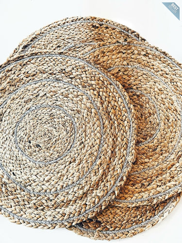 Placemats | Set of 6 | Jute & Silver