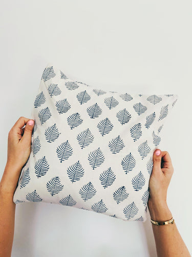 Pillowcase | 40x40 | White & Denim blue #3