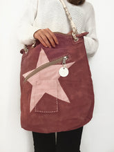Load image into Gallery viewer, Ali Lamu | Double zip bag L | Pink | Star in pink