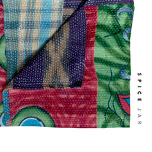 Load image into Gallery viewer, Vintage kantha quilt | Colorful