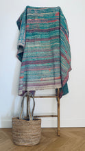 Load image into Gallery viewer, Vintage kantha quilt | Rugged, rough pastels | Vintage lover