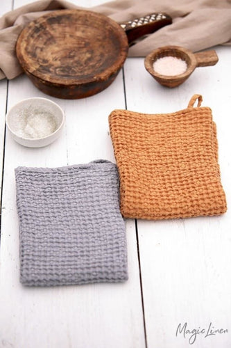 Waffle kitchen towel | Light grey or tan color