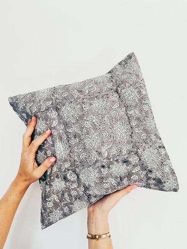 Pillowcase | 40x40 | White & Cool grey #2