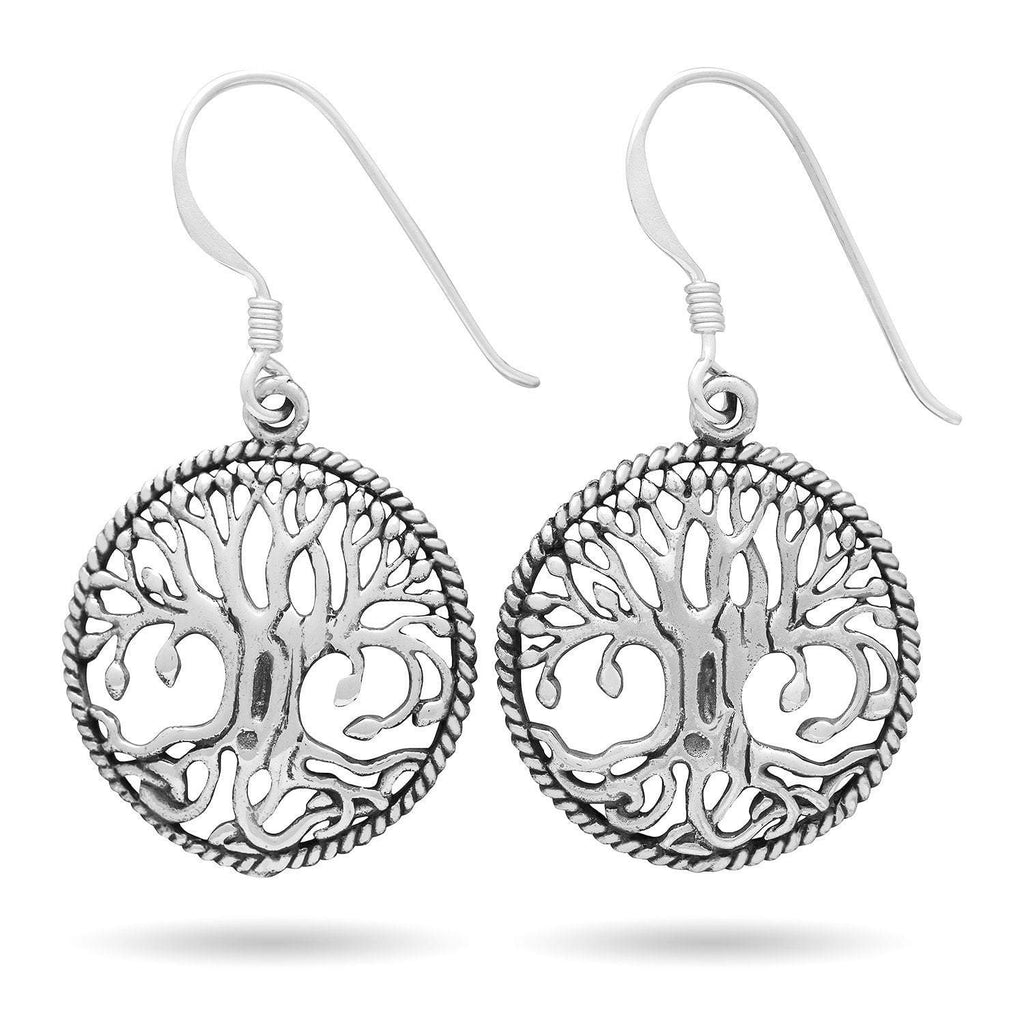 Pride Viking: Norse Jewelry 925 Sterling Silver Norse Tree of Life Yggdrasil Earrings