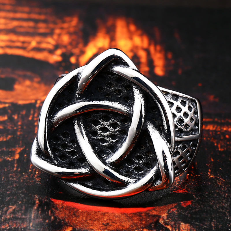 Pride Viking: Norse Jewelry Pagan Triquetra Ring