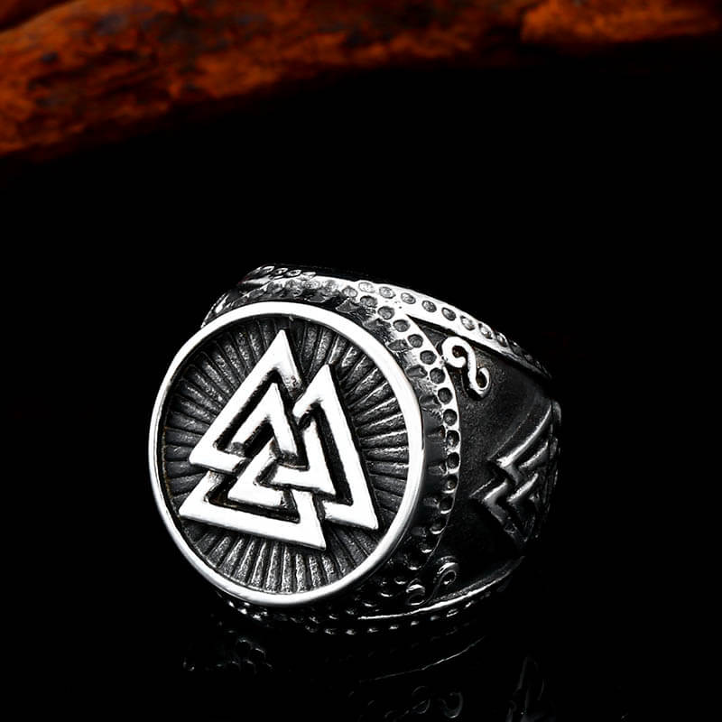 Pride Viking: Norse Jewelry Viking Valknut Ring