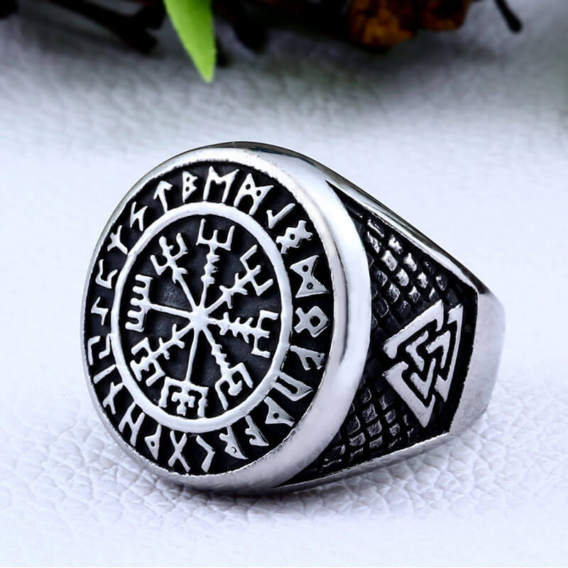 Pride Viking: Norse Jewelry Viking Vegvisir Compass Ring
