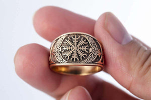 Pride Viking, Viking jewelry, Norse Jewelry Viking Helm of Awe Bronze Ring