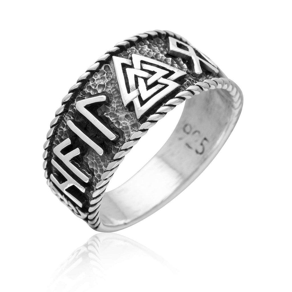 Pride Viking: Norse Jewelry 925 Sterling Silver Valknut Runes Ring