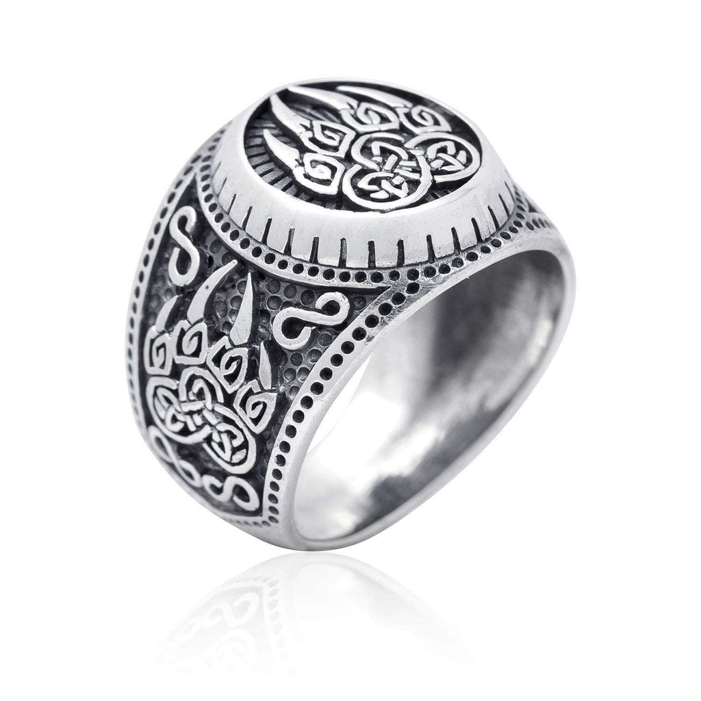 Pride Viking: Norse Jewelry 925 Sterling Silver Viking Bear Paw Ring