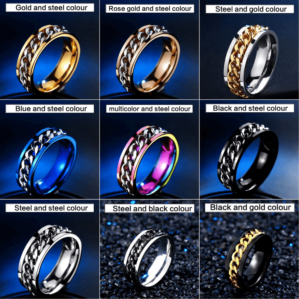 Pride Viking: Norse Jewelry Spin Chain Ring