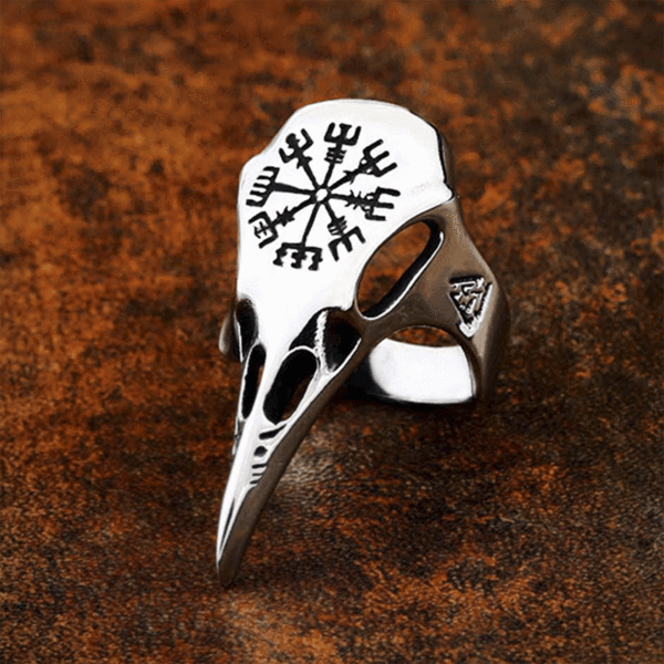 Pride Viking: Norse Jewelry Viking Raven Vegvisir Ring