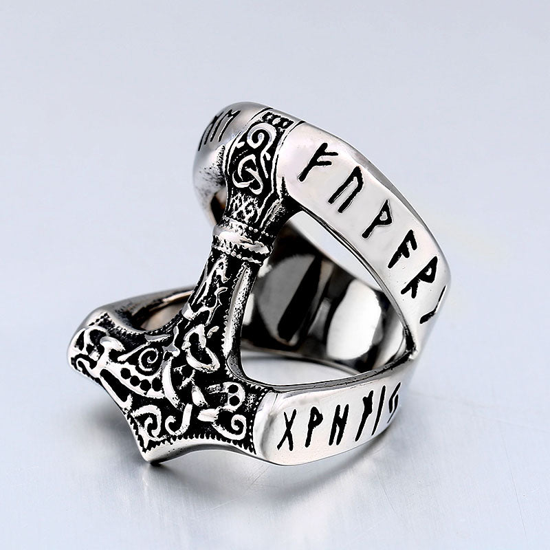 Pride Viking: Norse Jewelry Viking Thor Hammer Mjolnir Ring
