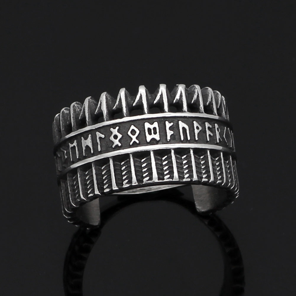 Pride Viking: Norse Jewelry Arrows Rune Ring