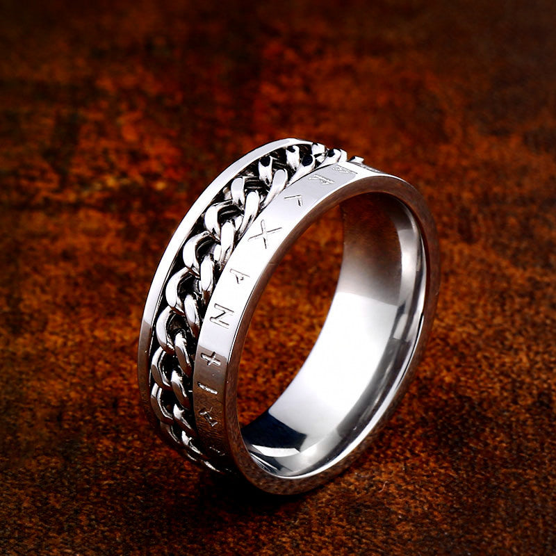 Pride Viking: Norse Jewelry Viking Chain and Rune Ring