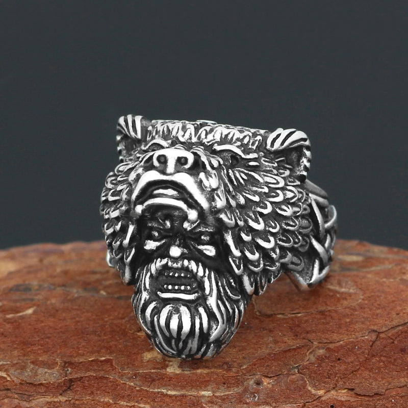 Viking jewelry, Norse Jewelry Viking Bear Berserker Warrior Ring