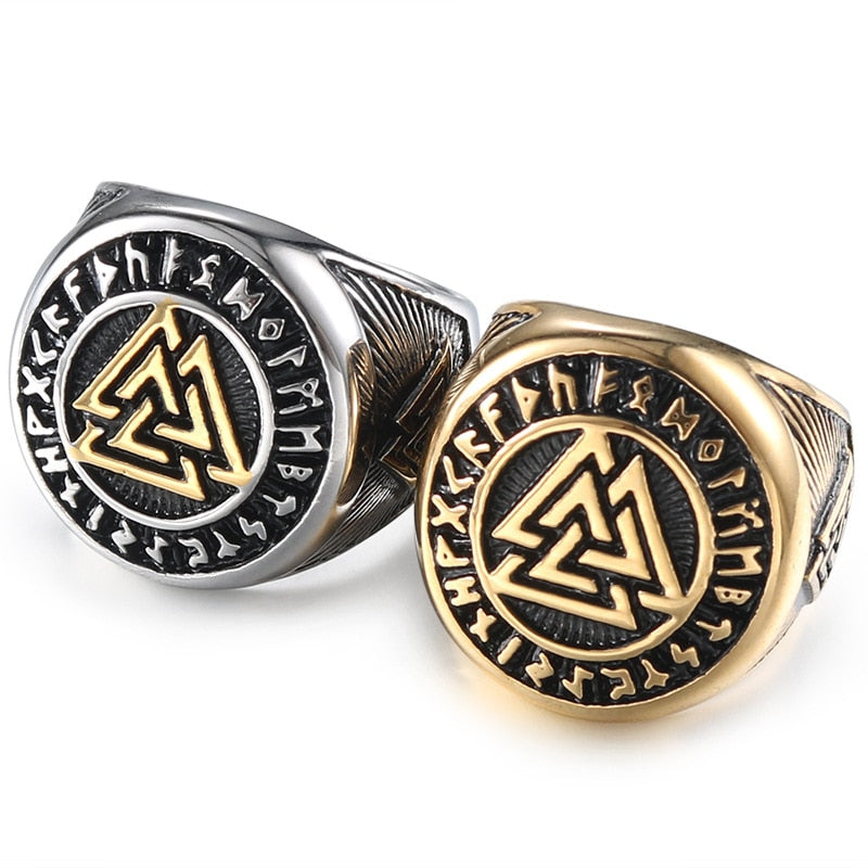 Viking jewelry, Norse Jewelry Viking Rune Valknut Ring