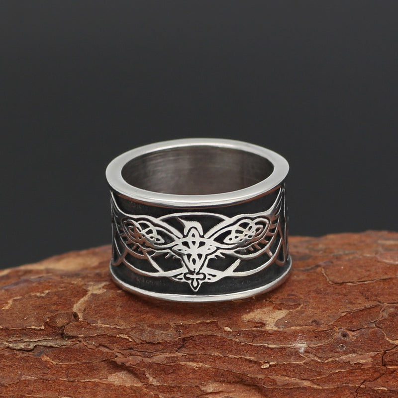 Viking jewelry, Norse Jewelry Flying Raven Huginn and Muninn Ring