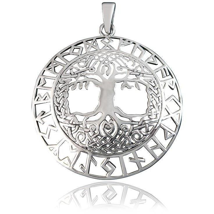 Pride Viking, Viking jewelry, Norse Jewelry 925 Sterling Silver Viking Yggdrasil Tree of Life Norse Runes Pendant
