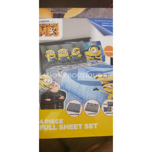 4Pc Full Sheet Set Despicable Me 3