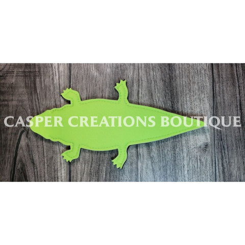 Alligator Neon Yellow Popsicle Holder Neoprene
