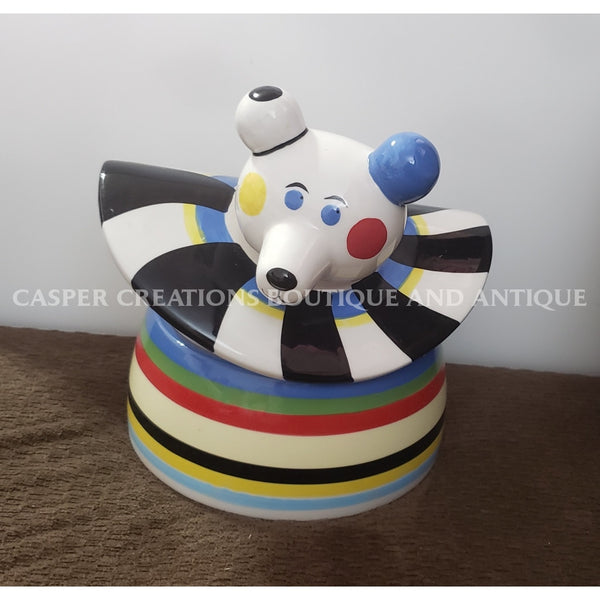 Ceramic Circus Bear Cookie Jar