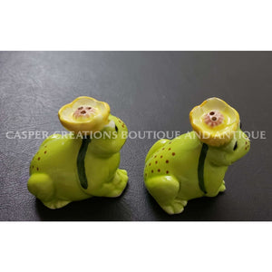 Frog Salt And Pepper Shakers From Japan