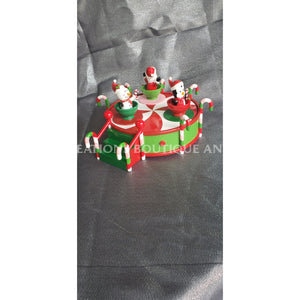 Musical Christmas Cup & Saucers Decor