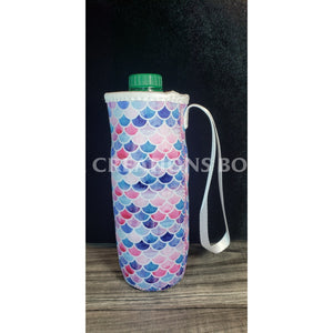 Pink Purple & Blue Mermaid Water Bottle Holder