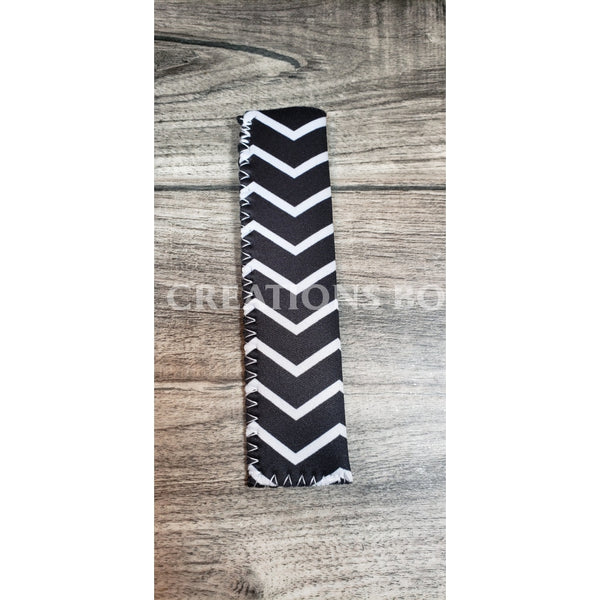 Skinny Popsicle Holders Black And White Chevron