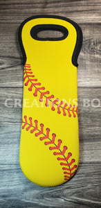 Softball Wine Bottle Holder