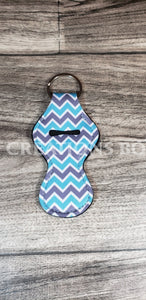 Teal & Grey Chevron Chapstick Holder Accessories
