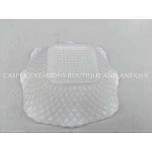 White Milk Glass Candy Dish