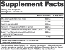 "Load image into Gallery viewer, <img src=""Supplementfact.png"" alt=""Inhibit, non-stimulant weight loss supplement"">"