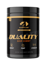 "Load image into Gallery viewer, <img src=""Pre-Workout.png"" alt=""Alchemy Labs Duality PreWorkout Drink"">"