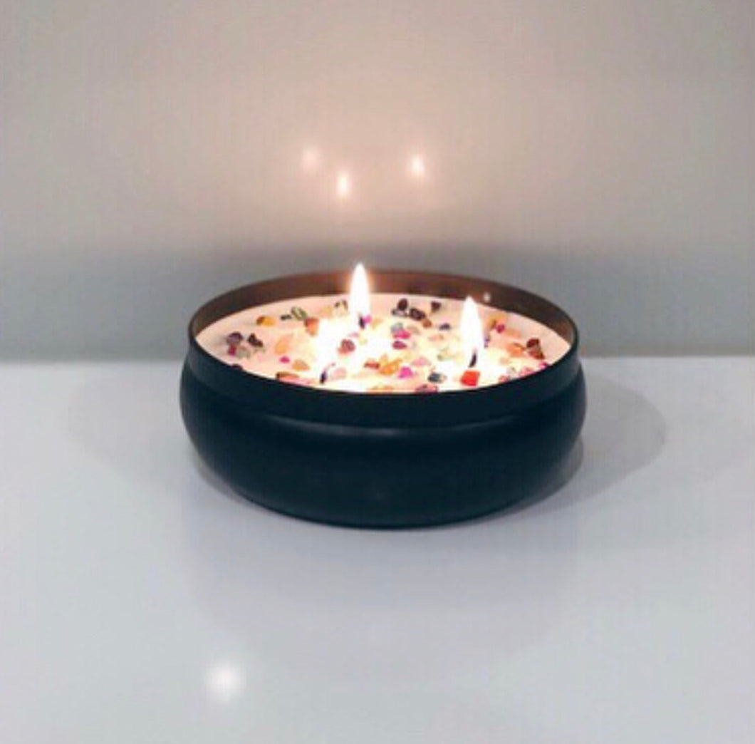 Triple Wick - Matte Black Tin