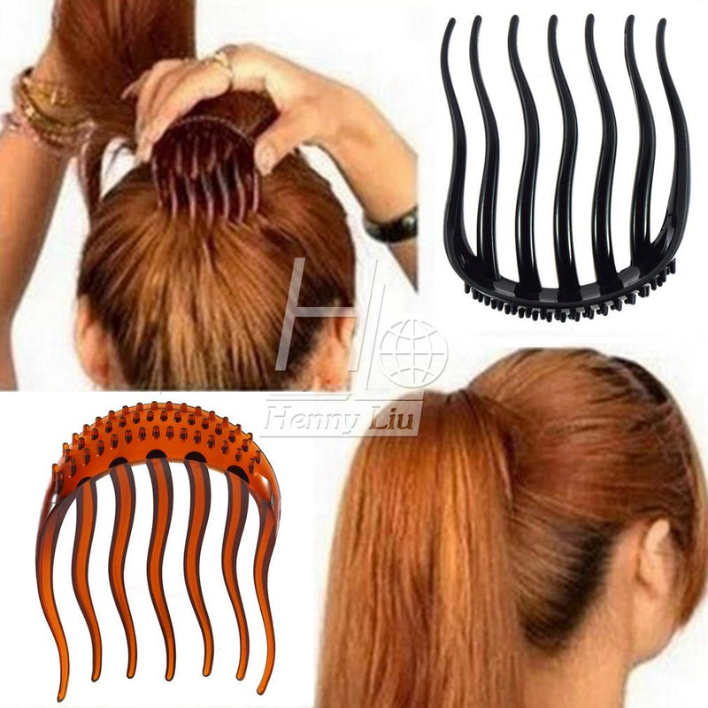 1pc Volume Inserts Hair Clip Bumpits Bouffant Ponytail Hair Comb Bun Ponytail Inserts Hair Clip Fluffy Pony Tail Styling Tools - getthatglow