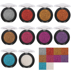 20 Colors Eye Shadow Diamond Makeup Pearl Metallic Eyeshadow Palette Makeup Avai - getthatglow