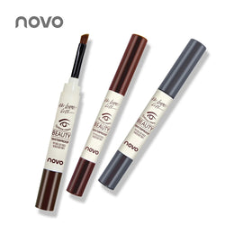 NOVO Eyebrow Cream Mascara Gel Make Up Waterproof Eye Brow Gel Pro Beauty Makeup Pen Enhancer With Brush - getthatglow