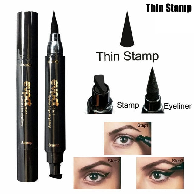 Evpct Double Head Mark Seal Pen Liquid Eyeliner Pencil Stamp Point Tattoo Makeup Tool SSwell - getthatglow