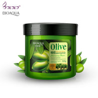 Bioaqua 500g Hair Care Natural Olive Nutritious Moisturizing Frizz Damaged Dry treatment - getthatglow