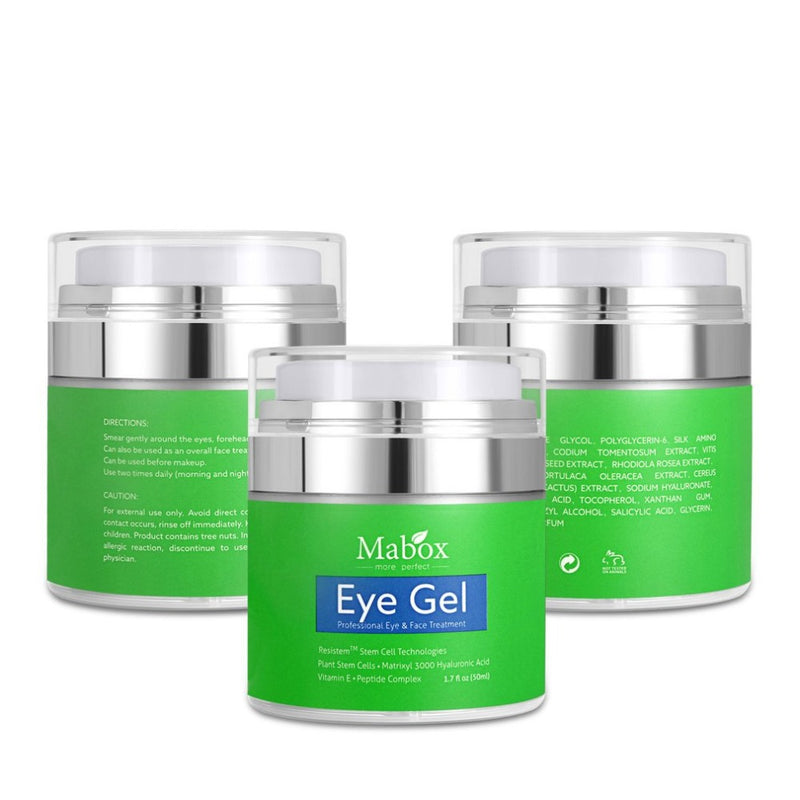 50ML Eye Gel Anti-Wrinkles Fine Lines Dark Circles Remover Puffiness and Bags With Hyaluronic Acid Refreshing Eye Cream - getthatglow