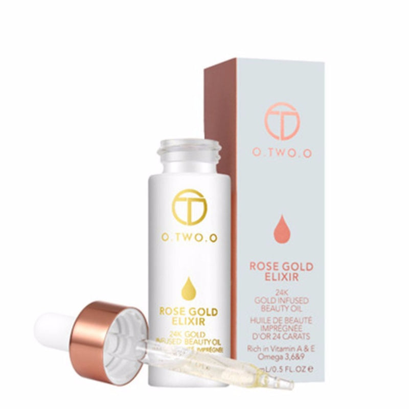 O.TWO.O 24K Rose Gold Elixir Essence Oil Anti-aging Daily Moisturizer Hydrating Lips 15ml  Skin Care - getthatglow