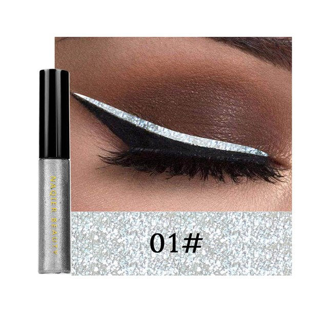New Glitter Eyeliner Liquid Waterproof Long-lasting Makeup Shining Eye Liner Pencil Comestics Tools 2018 SSwell - getthatglow