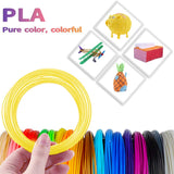7TECH 3D PLA 3D Filament, 1.75mm 3D Printing Filament for 3D Printers and 3D Pens, 18 in 180 Feet Lengths with 280 Stencils EBooks