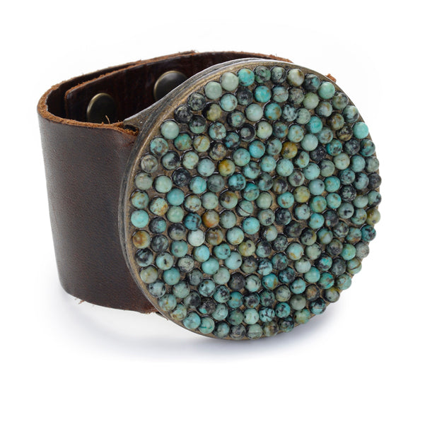 leather bracelet, handmade jewelry
