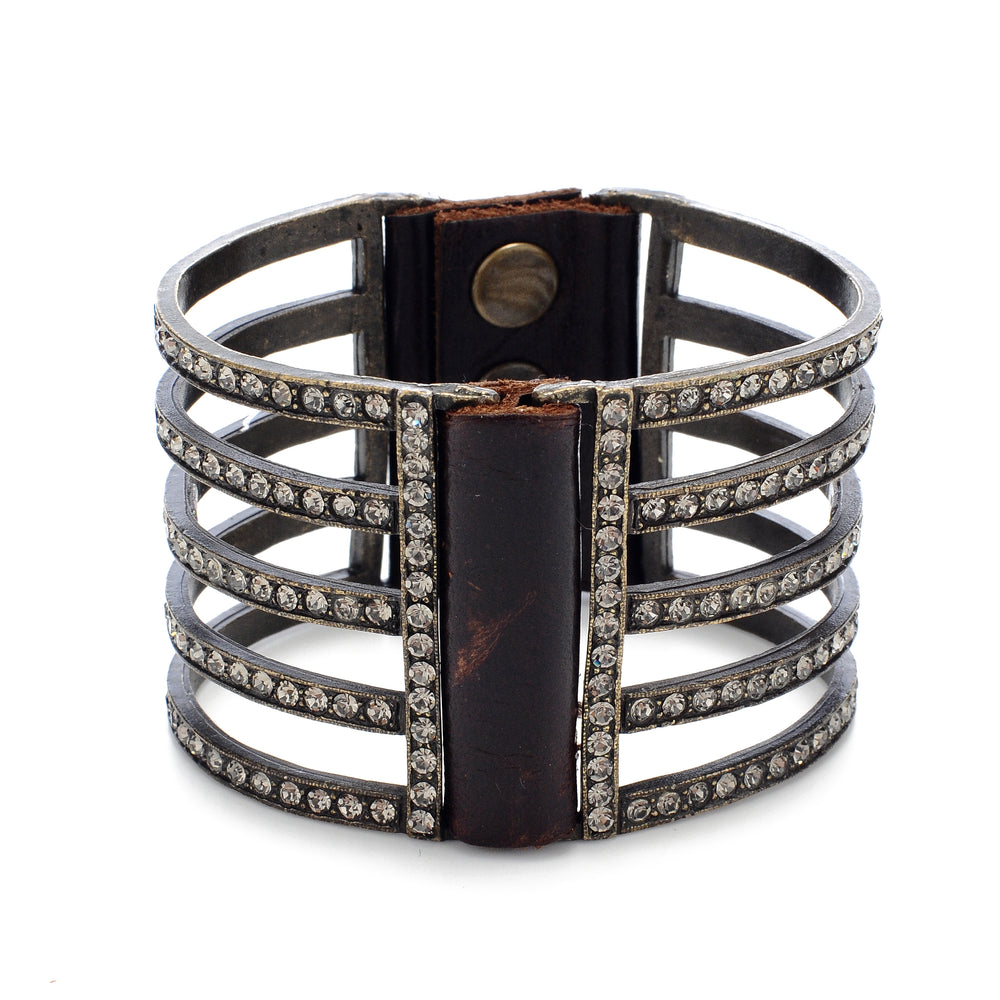 1042 double sided five bar bracelet