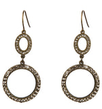 1254 double circle earrings
