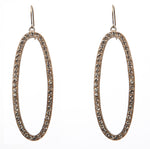 1329 open oval drop earrings
