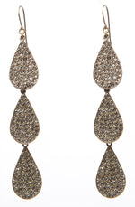 1338 triple crystal teardrop earrings